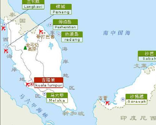 马来西亚旅游地图_甘肃国泰国际旅行社