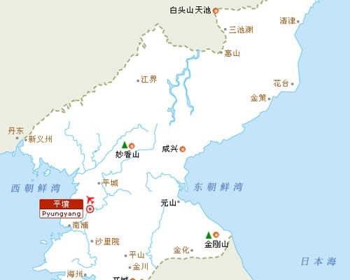 朝鲜旅游地图_甘肃国泰国际旅行社