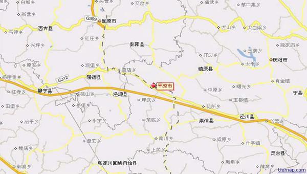 平凉地图_甘肃国泰国际旅行社图片