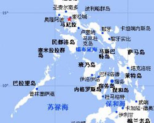 世界地图菲律宾位置