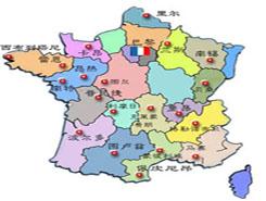 法国旅游地图