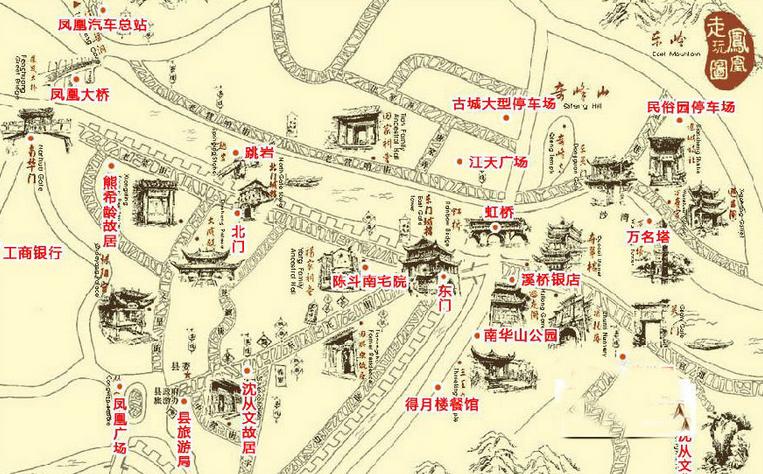 凤凰古城导游图