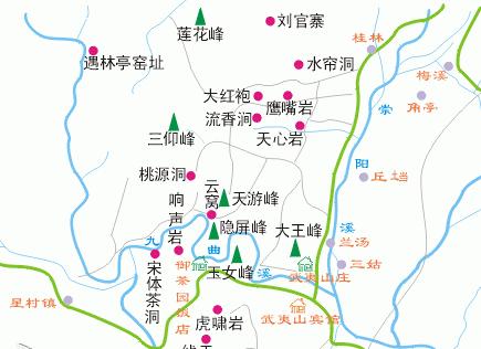 武夷山旅游地图