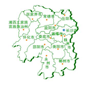 湖南省地图