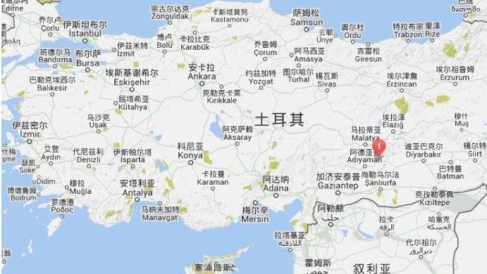 土耳其地区分布地图