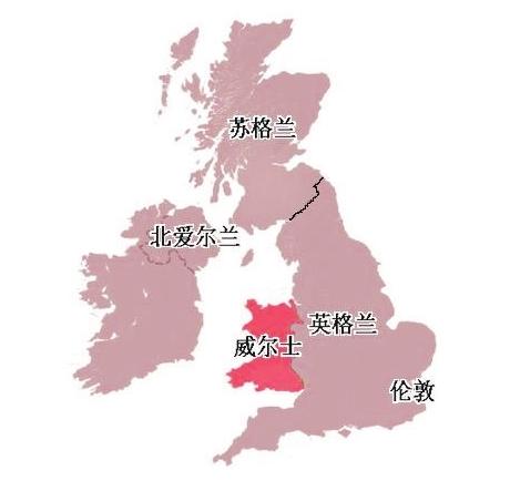 英国地区分布图