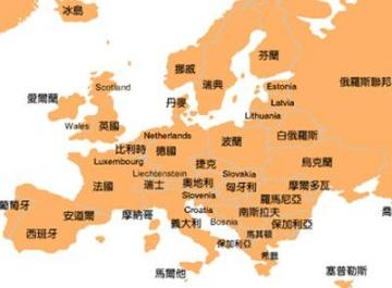 欧洲国家分布图
