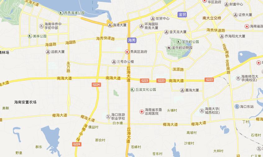 海南海口旅游地图