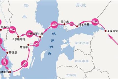 北欧四国旅游地图
