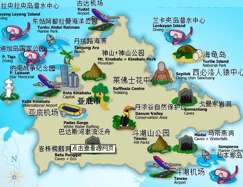 沙巴旅游景点地图