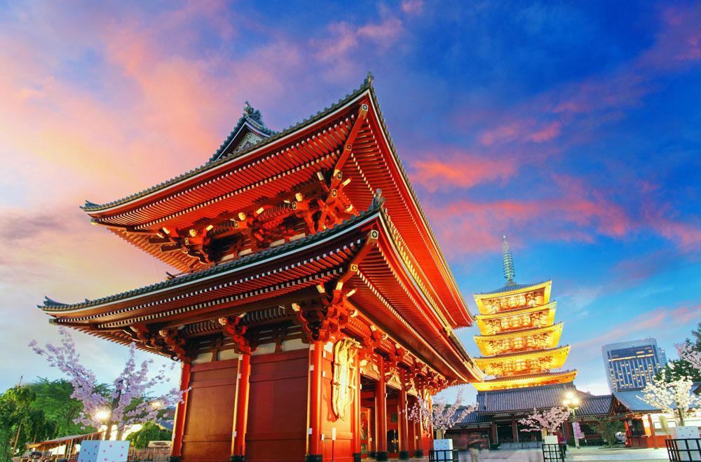 兰州到日本旅游―日本本州【半自由・双乐园・三飞】赏樱七日游